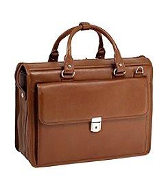McKlein Gresham Leather Litigator Laptop Briefcase