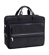 McKlein Elston Black Nylon Double Compartment Laptop Case