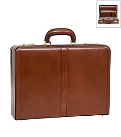 McKlein Harper Leather Expandable Attache Case