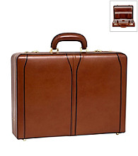 McKlein Turner Leather Expandable Attache Case