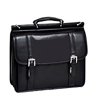 McKlein Scottsdale Black Flapover Double Compartment Laptop Case