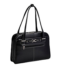 McKlein Mayfair Ladeis' Black Laptop Case