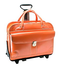McKlein Lakewood Ladies' Leather Fly-Through™ Checkpoint-Friendly Detachable Wheeled Briefcase
