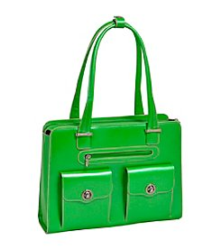 McKlein Verona Ladies' Leather Fly-Through™ Chekcpoint-Frinedly Briefcase