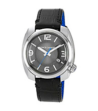 Vince Camuto™ Men's Black Leather Watch
