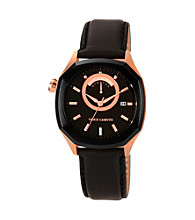 Vince Camuto™ Men's Leather Black Watch