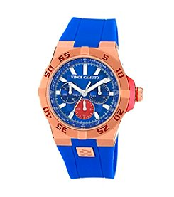 Vince Camuto™ Men's Multi-Function Dial Blue Silicone Strap Watch