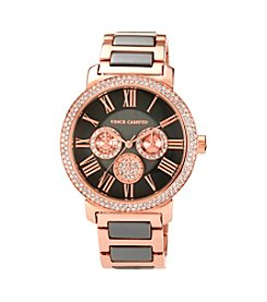 Vince Camuto™ Women's Swarovski Crystal Accented Multi-Function Two Tone Bracelet Watch