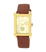 Vince Camuto™ Brown Stingray Leather Strap Watch