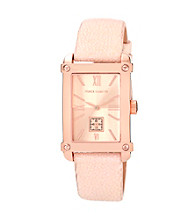 Vince Camuto™ Rose Goldtone Stingray Blush Leather Strap