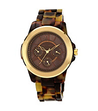 Vince Camuto™ Women's Tortoise Multi-Function Bracelet Watch
