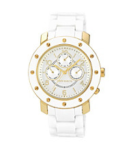 Vince Camuto™ Women's White Ceramic Multi-Function Bracelet Watch