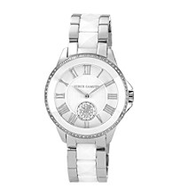 Vince Camuto™ Women's White and Silver Bracelet Watch