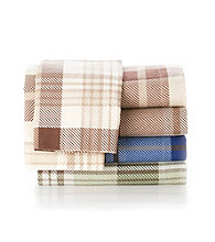 Elite Home Products Winter Nights Plaid Flannel Sheet Sets