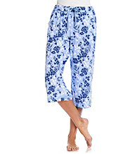 KN Karen Neuburger Knit Capri Pants - Twilight Floral