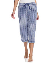 KN Karen Neuburger Knit Capri Pants - Twilight Geo