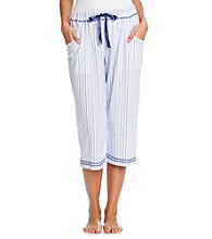 KN Karen Neuburger Knit Capri Pants - Twilight Stripe