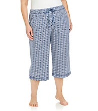 KN Karen Neuburger Plus Size Knit Capri Pants - Twilight Geo
