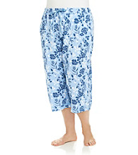 KN Karen Neuburger Plus Size Knit Capri Pants - Twilight Floral