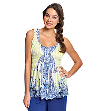 Oneworld® Knit Ruffled Tank Top - Good Turn
