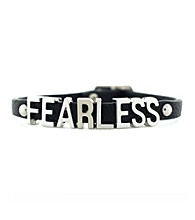 BCBGeneration™ Black and Silvertone Fearless Mini Bracelet