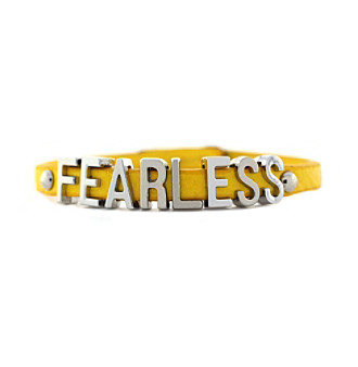 BCBGeneration™ Mustard and Silvertone Fearless Mini Bracelet