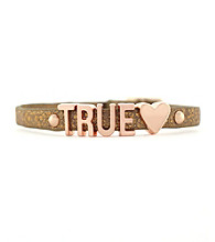 BCBGeneration™ Bronze and Rose Goldtone True Love Mini Bracelet