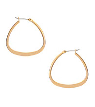 Kenneth Cole® Goldtone Sculptural Triangle Hoop Earrings