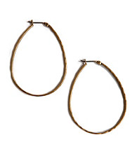 Lucky Brand® Goldtone Oblong Hoop Earrings