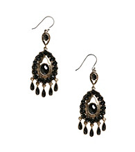 Lucky Brand® Two Tone Jet Chandelier Earrings