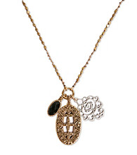 Lucky Brand® Goldtone Charm Necklace
