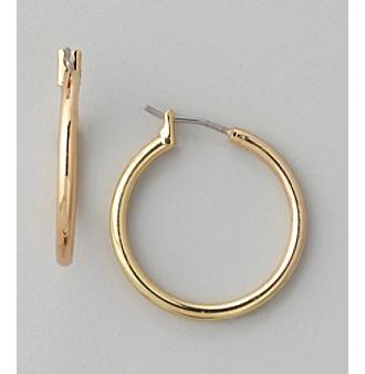 Anne Klein® Goldtone Medium Hoop Earrings