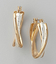 Anne Klein® Two Tone Hoop Earrings