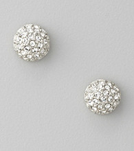 Givenchy® Silvertone Crystal Fireball Stud Earrings