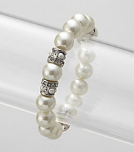 Givenchy® White Pearl Stretch Bracelet