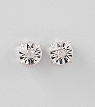 Designs by FMC 1/8 Ct. t.w. Diamond and Sterling Silver Earrings