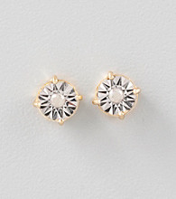 Designs by FMC 1/8 Ct. t.w. Diamond and 18K Gold-Over-Sterling Silver Earrings