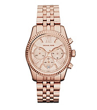 Michael Kors® Rose Goldtone Lexington Watch