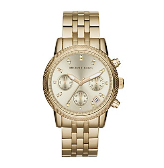 Michael Kors® Mid-Size Goldtone/Stainless Steel Ritz Chronograph Glitz Watch