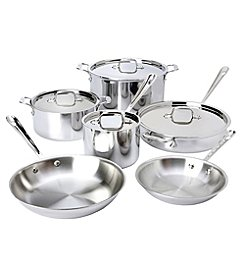 All-Clad® 10-pc. Stainless Steel Cookware Set + FREE BONUS GIFT see offer details