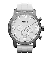 Fossil® Nate White Silicone Watch