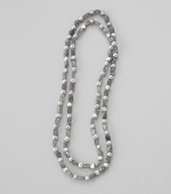 Genuine Baroque Pearl and Labradorite endless Necklace