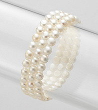 Genuine Freshwater Pearl Weave Stretch Bracelet