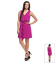 Jessica Simpson Sleeveless Popover Ruffle Dress