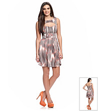 Guess Sleeveless Fit and Flare Cutout Dress