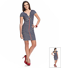 Guess Striped Zipper Dress