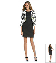 AGB Chain Print Jacket Dress
