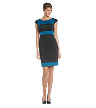 London Times® Colorblock Scuba Dress