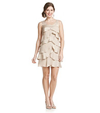 London Times® Petites' Artichoke Shutter Dress