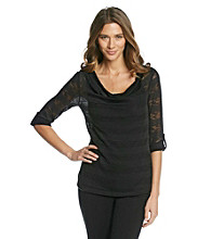 AGB® Drapeneck Layered-Look Tunic